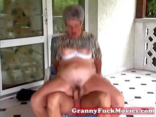 youthful man fucking old bulky granny