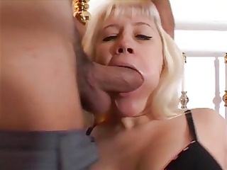 busty blond d like to fuck deepthroats a thick