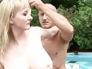 breasty grandma enjoys sexy sex outdoor