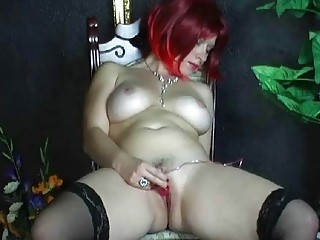 busty dilettante wife toying her hairless cookie