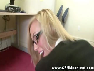 clothed secretaries fuck for promotion
