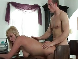 slutty blond mature receives neighbours large