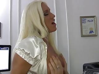 blond slut mom fucks her boss