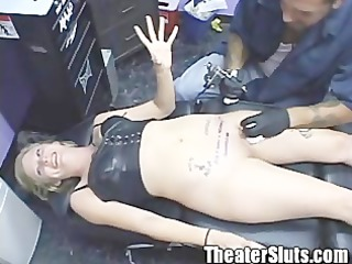 blond freaky hottie receives blasted at porn