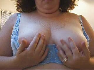 wifes hot bra buddies in a blue bra.