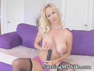 wife makes clip for hubby