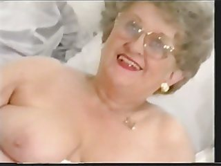 plump old granny strips and plays another time