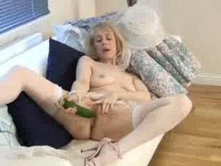 excited granny cucumber bawdy cleft penetration