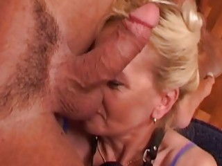 cum eating older blonde ablaze...