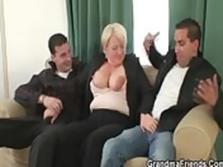 hawt threesome with granny