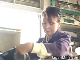 lewd japanese milfs engulfing and fucking