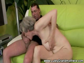 skilled granny fucking juvenile man on ottoman