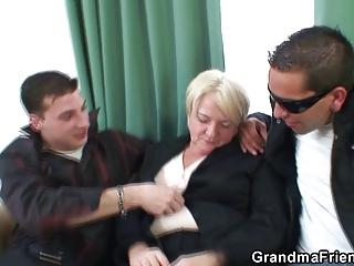 buddies pick up a granny