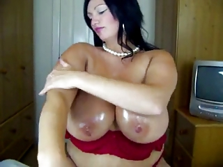 chubby mature with big love muffins in stocking