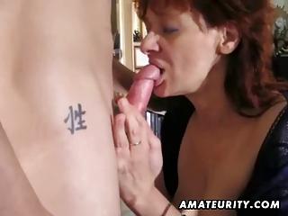 amateur redhead mother i sucks and copulates a