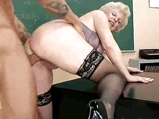 older lady fucks juvenile cock