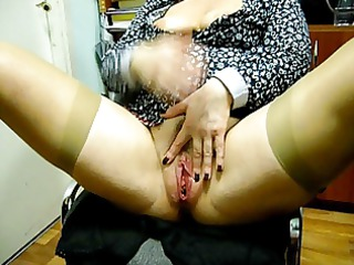 pushunas masturbating with stocking in her pizde