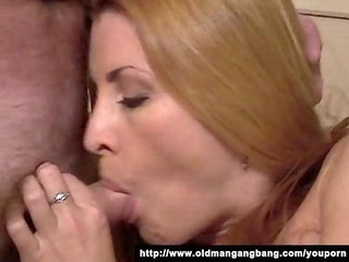 two old perverts fuck sexy blondie