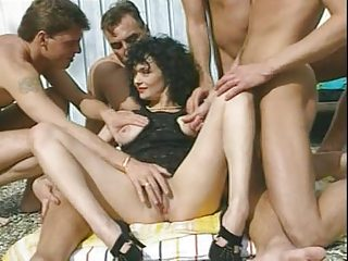veronique - darksome haired milf with 0 men by