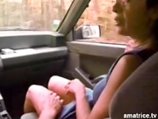 hitchhiker drilled in a forest