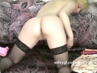 retro blondie double penetration sex toy amateur
