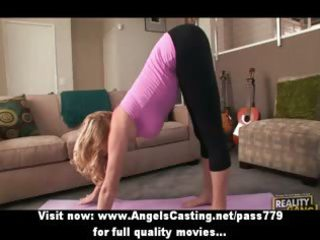 blond mother i does yoga and oral-job for