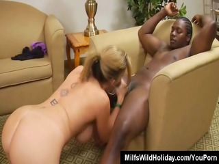 breasty milf sara jay takes on a dark dude