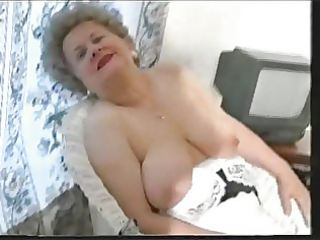 corpulent old granny teases in stockings
