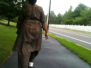 aged indian booty walking