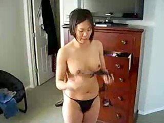 concupiscent chinese milf shows titght body