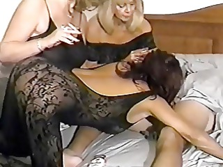 hot older cougars share smoking bj