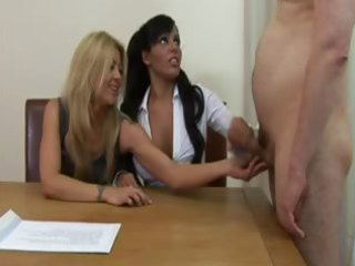 office matures call in fellows to jerk off