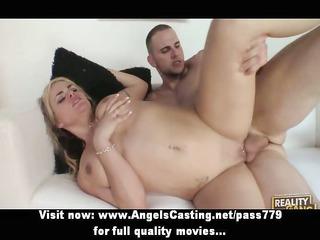 enjoyable undressed blond hottie fucked hard and