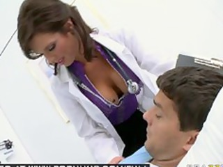 big tit brunette hair milf pornstar doctor bonks
