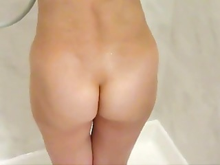 shy wife caught in shower