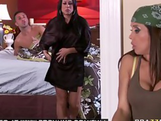 big tit milf brunette hair pornstar housekeeper
