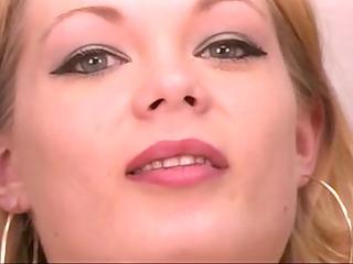 mature leggy blond spreads her pretty muff at work