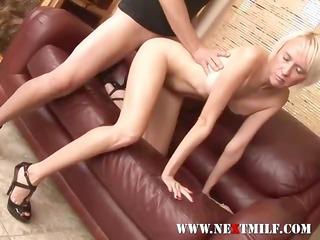 erotic golden-haired milf engulfing meat