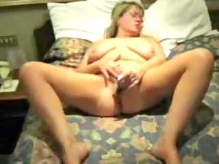 home made. standing wife masturbates. she is t