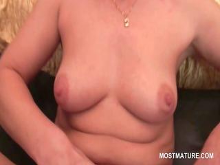 dark brown slender aged masturbating with sex