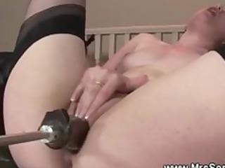 mature brit and her fuck machine