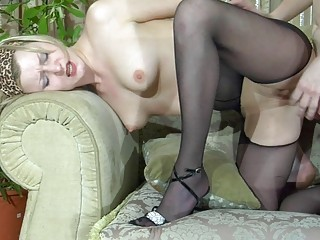pale blond d like to fuck in dark hose acquires