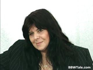 darksome hair aged bbw floozy receives her part11