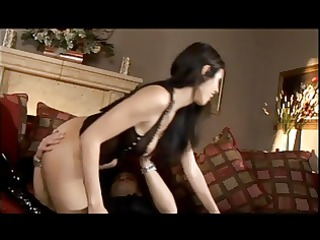 shy luv has wild sex on ottoman with athletic man