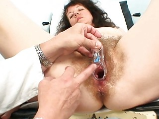 old older doxy acquires her curly examined at the