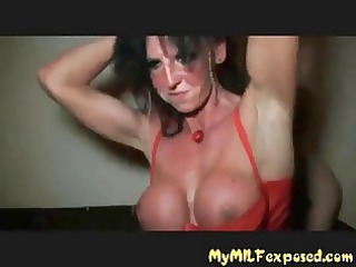 obscene floozy milf team fuck party red boots
