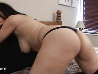 amateur british mother i awaiting for youthful
