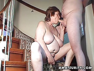 chubby non-professional wife toys and sucks and