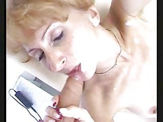 older redhead likes cum
