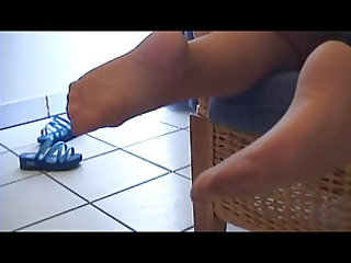 my wife s nylon footjob anal play